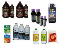 lots of hydroponics nutrient solutions