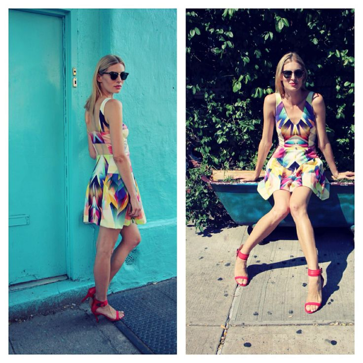 Print dress .. Perfect for the hot summer days!