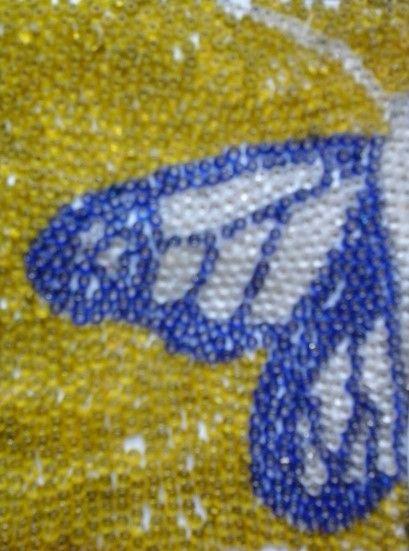 Mariposa de Mostacillas Mi trabajo. By: Ihzii