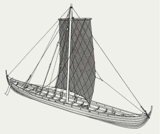 Når man færdedes i vikingetidens kystlandskaber, må det ofte være hændt, at man derude på havet kunne se skibe, der sejlede forbi i passende ringe afstand fra kysten. Tæt på for til stadighed at have sikker landkending. Men samtidig så langt ude, at de var fri af rev og landgrunde. Og ved solnedgangstid kunne man se skibene ankre op i naturhavnene. For hvis natten var mørk og overskyet, biede man her. Det gav ly, dersom det skulle blæse op til storm.