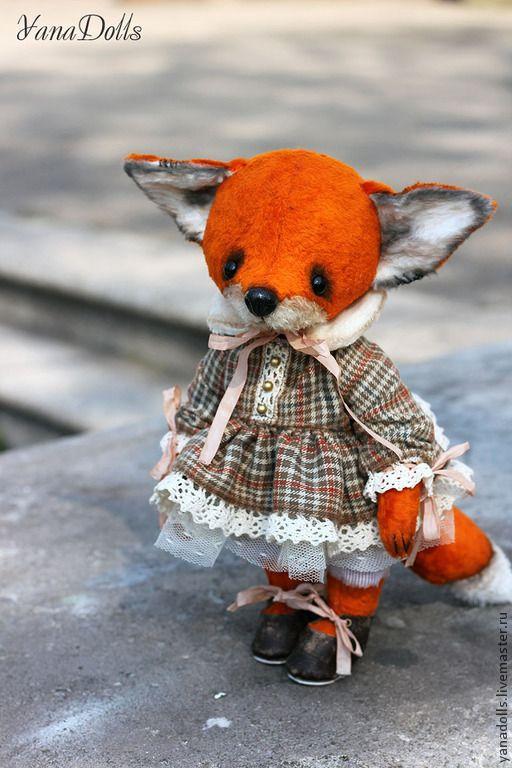 Феня - рыжий,лиса,лиса игрушка,лиса тедди,плюш,лисичка,тедди,тедди лиса