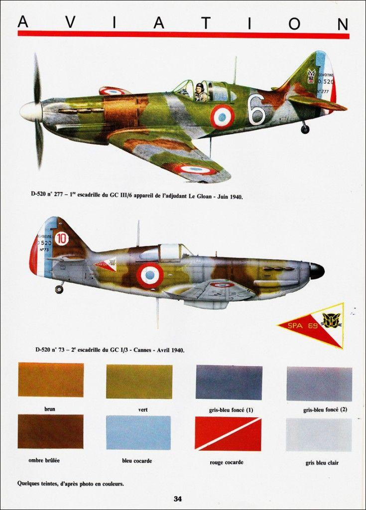 Histoire et maquettisme N°27 - Dewoitine D-520 http://maquettes-avions.hautetfort.com/archive/2011/06/21/histoire-et-maquettisme.html