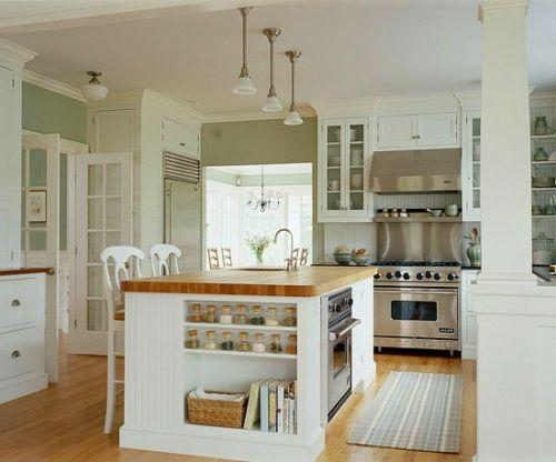 Die 25+ besten Ideen zu Küche mit kochinsel auf Pinterest ... | {Küche mit kochinsel landhaus 21}