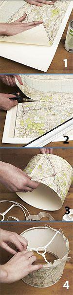 Make a map lampshade
