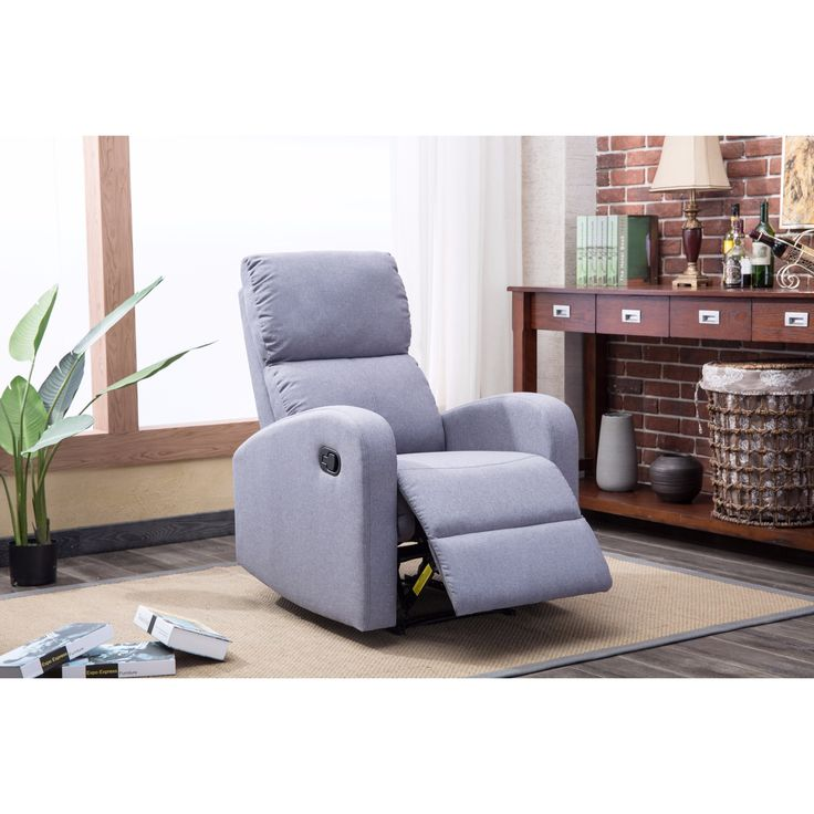 Brighton Black Faux Leather/Fabric Contemporary Recliner Chair (Faux Leather - Black) Size Standard  sc 1 st  Pinterest & Best 25+ Contemporary recliner chairs ideas on Pinterest | Brown ... islam-shia.org