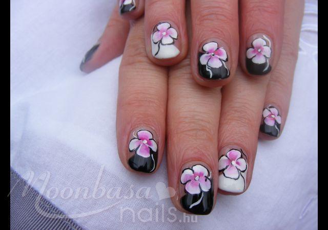 : lakkzselé,akril festék, fekete, fehér, rózsaszín