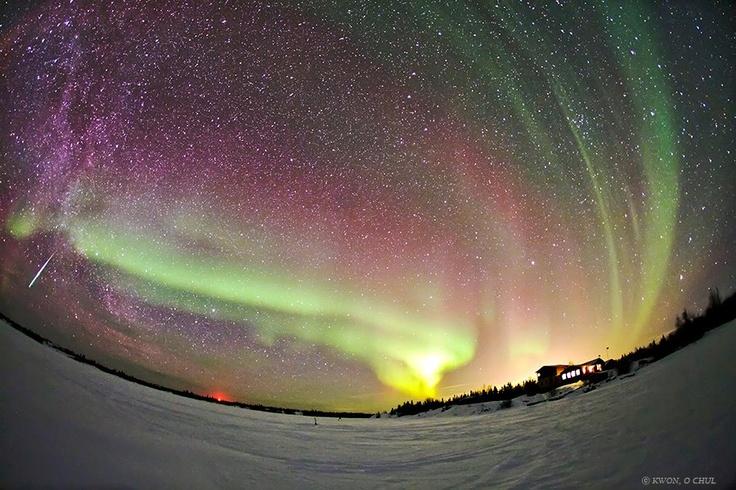 Aurora Meteor  Northwest Territories - Canada  Copy Credit : Kwon O Chul Kwon