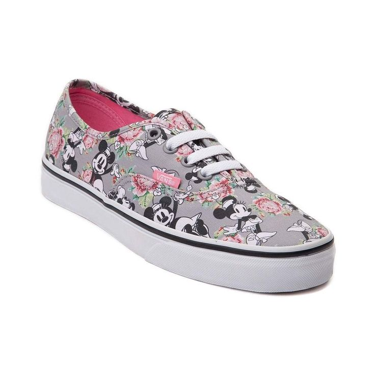 womens vans grey disney authentic minnie mouse trainers nz