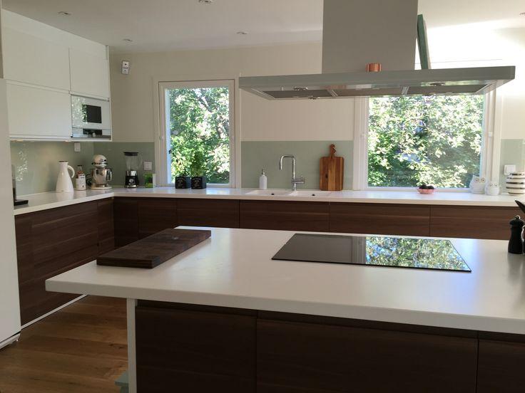 Ikea voxtorp chestnut kitchen