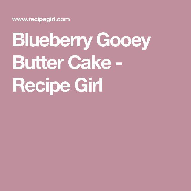 Blueberry Gooey Butter Cake - Recipe Girl