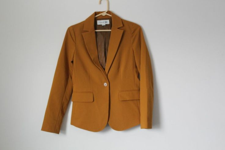 forever 21 mustard yellow blazer womens business jacket