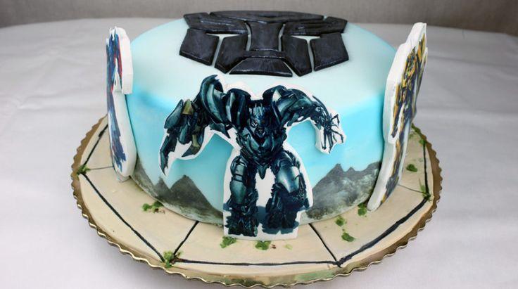 🔩 TRANSFORMERS CAKE 🔩-  orchideli-transformers-tort urodzinowy dla chłopca z transformersami, wydruk na masie cukrowej  🔩 Tort TRANSFORMERS 🔩 - ORCHIDELI - LOVE BEAUTY