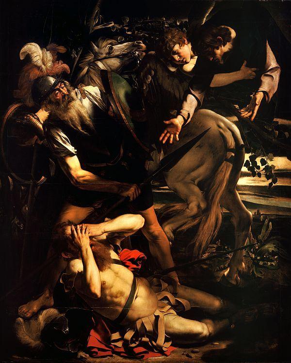 Carravaggio's painting,  The Conversion of Saint Paul, 1600, Santa Maria del Popolo in Rome