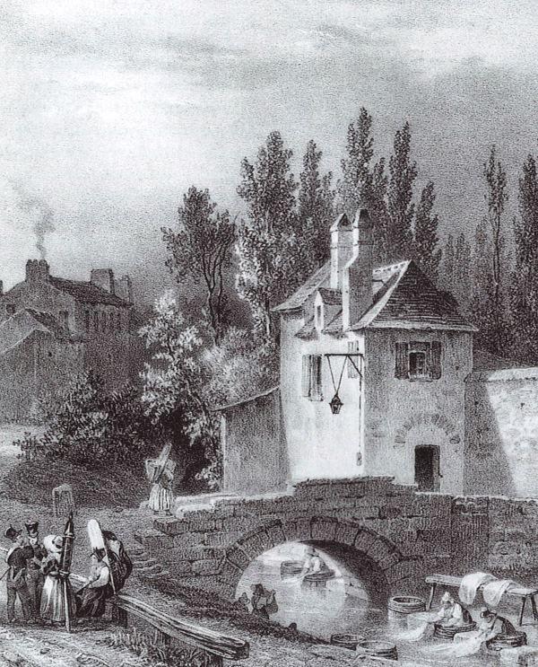 Moulin Croulebarbe : moulin à blé jusqu'à la Révolution, il fut converti en moulin industriel actionnant les soufflets d'une fonderie puis d'une tréfilerie. Vendu à la Ville de Paris en 1827, il fur détruit en 1841.