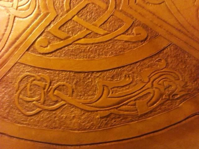 celtic shield for sword fighting design Tandy leather.