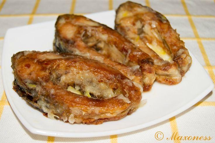 Жареный карп с соусом муждей. Молдавская кухня