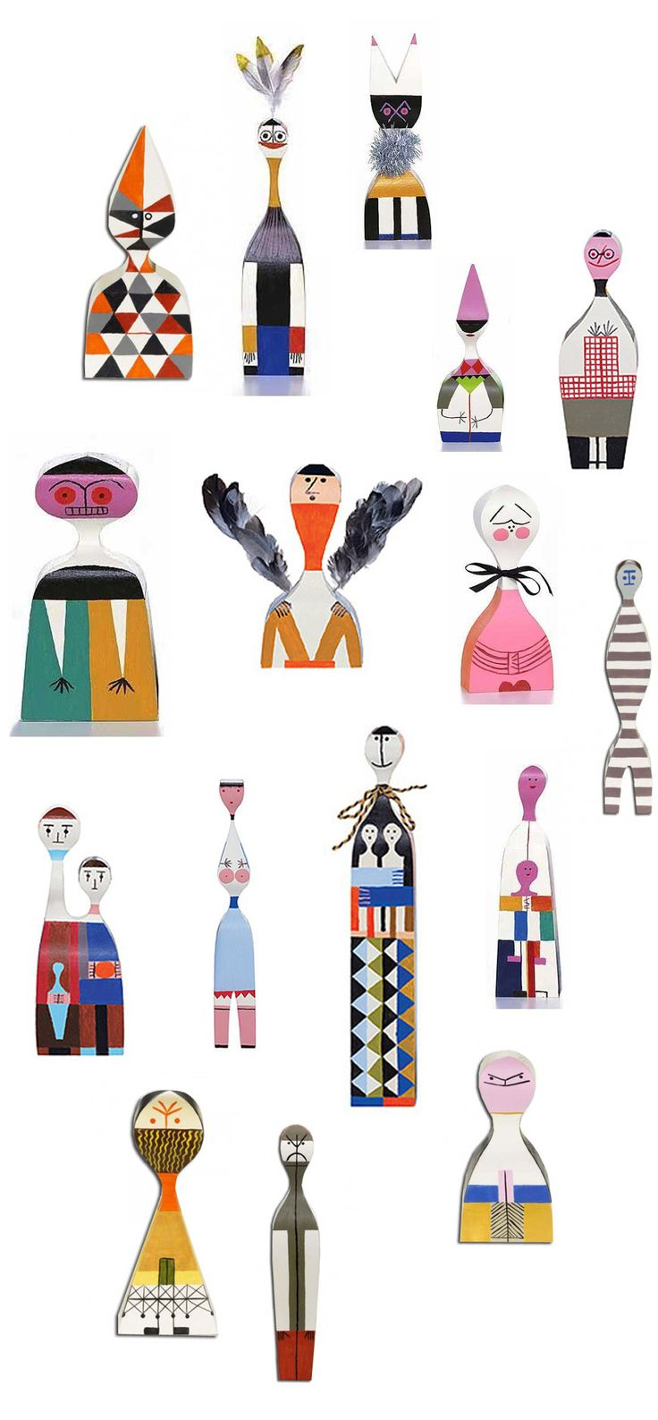 wooden dolls • alexander girard • vitra, reintroduced based on original design