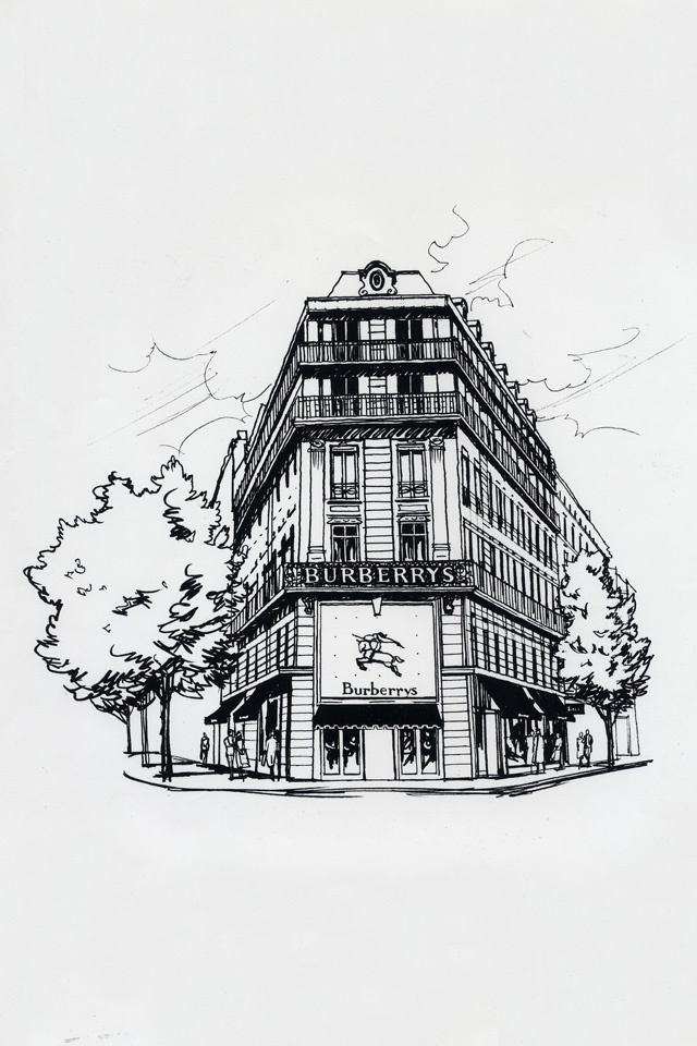1909: Opening of the Burberry store in Paris at 8 Boulevard Malesherbes