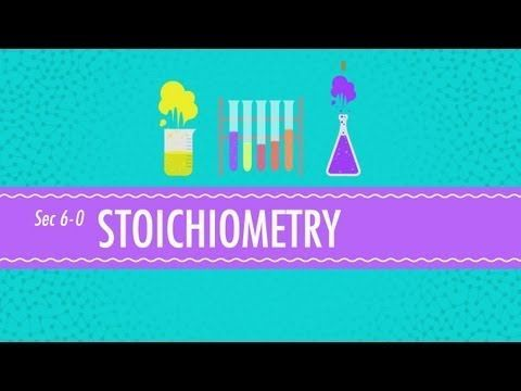 Chemists need stoichiometry to make the scale of chemistry more understandable - Hank is here to explain why, and to teach us how to use it.     Table of Contents  Atomic Mass Units 2:24  Moles 5:12  Molar Mass 5:59  Equation Balancing 8:45  Molar Ratios 11:11    Crash Course elsewhere on the internet:  http://www.facebook.com/YouTubeCrashCourse  http://ww...