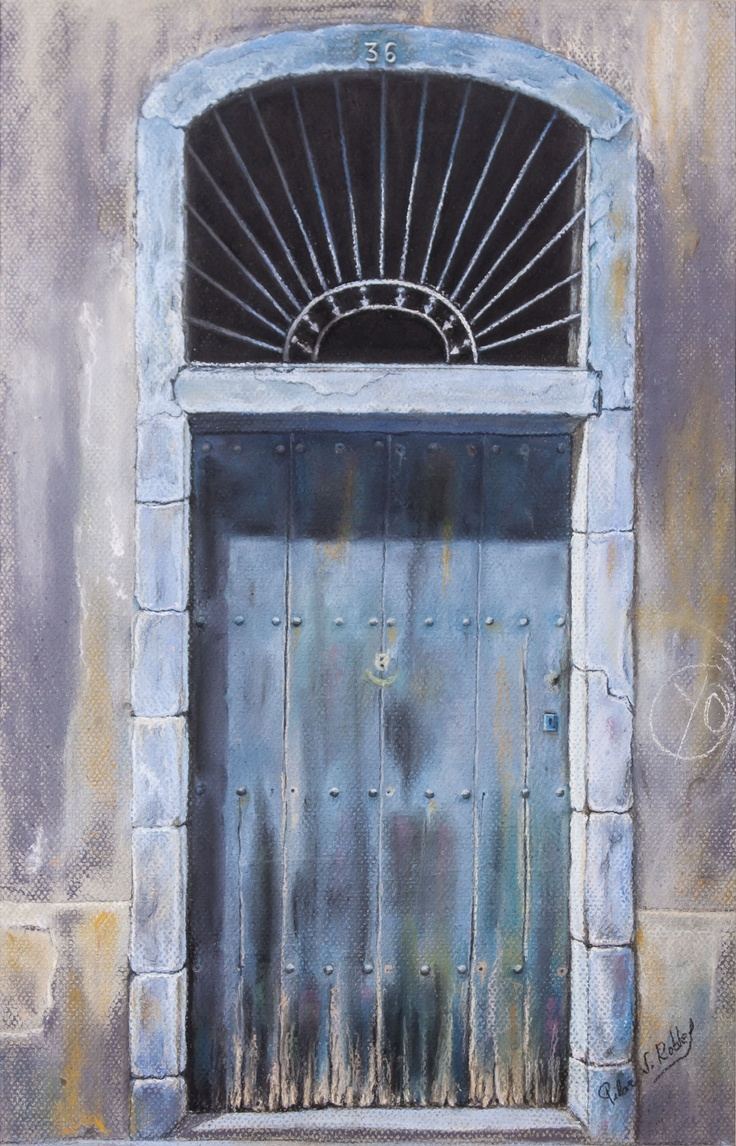 Pilar S. Robles. Puerta de Gracia (Barcelona) nº1. Pastel. 46x64