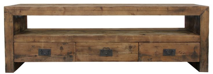 Recycled entertainment unit with drawers