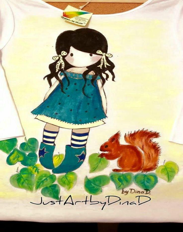 Μπλούζα παιδική ζωγραφισμένη,Santoro Gorjuss - e-paidotopos.gr