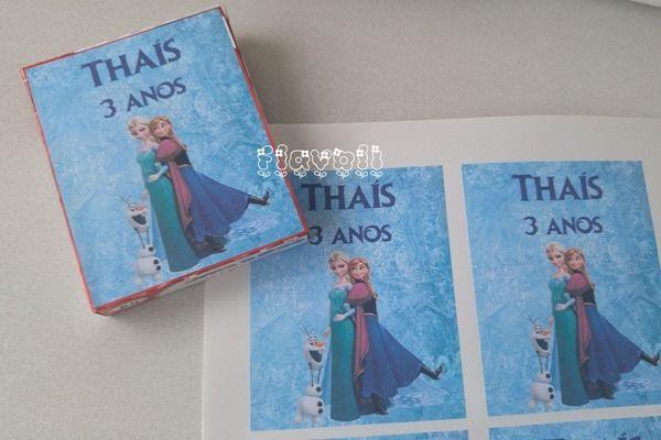 Rótulo adesivo para embalagem de massinha–Frozen  :: flavoli.net - Papelaria Personalizada :: Contato: (21) 98-836-0113  vendas@flavoli.net
