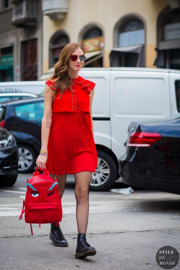 Chiara Ferragni The Blonde Salad Street Style Street Fashion Streetsnaps by STYLEDUMONDE Street Style Fashion Photography