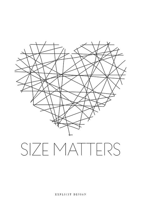 """Size Matters Quote, Brush Stripes Poster, Minimalist, Simple Room Print, Modern Black Stripe, White Heart Design, Ink Lines Artwork Prints.   I N S T A N T D O W N L O A D  This listing is for a DIGITAL FILE of this artwork. No physical item will be sent. You can print the file at home, at a local print shop or using an online service.   I N C L U D E D F I L E S 1. High resolution JPG file in 2:3 ratio for printing the following sizes: - 4""""x6"""" - 8""""x12"""" - 12""""x18"""" - 16""""x24"""" - 20""""x30""""…"""