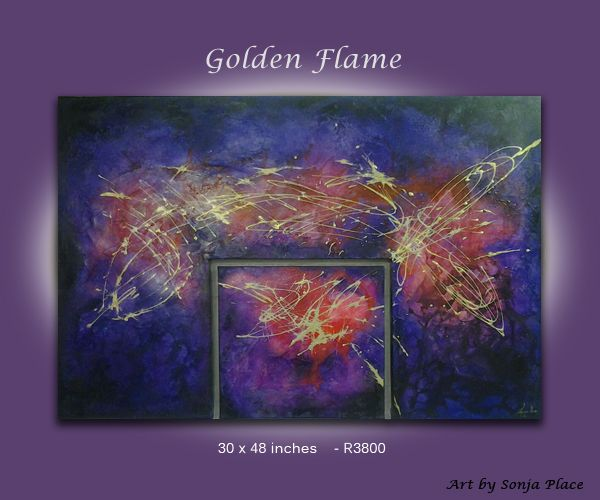 Golden flame  SOLD