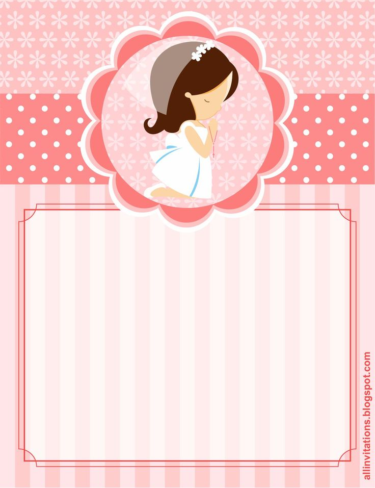 Kit Imprimible Primera Comunión Niña | All Invitations