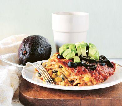 Vegan Taco Lasagna.....this is so good! #vegan #entree #recipe
