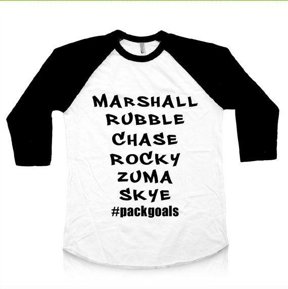 Paw Patrol Toddler Shirt. Paw Patrol Raglan. Paw Patrol Baby Raglan. Paw Patrol Shirt. Marshall Rubble Chase Rocky Zuma Skye. Squad goals.