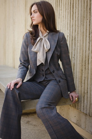 plaid suit, Stanford jacket / business chic.: