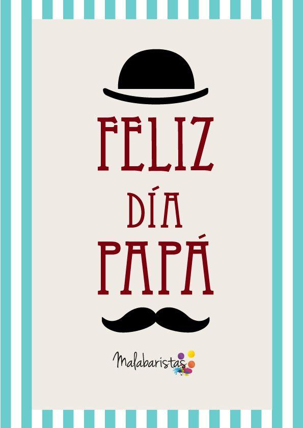 Regálale este malabar creativo a papá en su día!! #felizdiapapa   Lámina: Feliz dia papá. Dia del padre - #onselz
