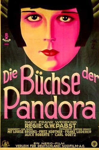 Directed by Georg Wilhelm Pabst.  With Louise Brooks, Fritz Kortner, Francis Lederer, Carl Goetz. The rise and inevitable fall of an amoral but naive young woman whose insouciant eroticism inspires lust and violence in those around her.