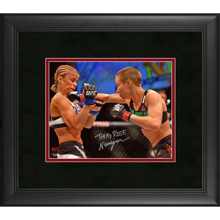 "Rose Namajunas Ultimate Fighting Championship Fanatics Authentic Framed Autographed 8"" x 10"" Punching Paige VanZant Photograph"
