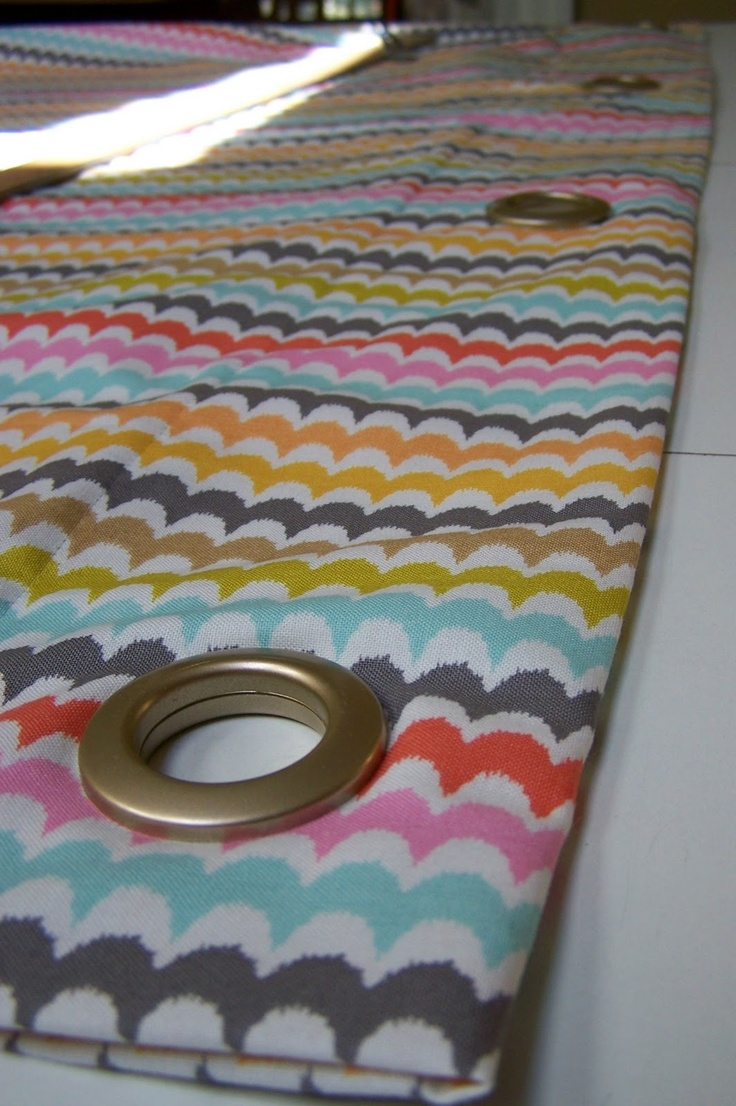 Making curtains with grommets - Sew Homegrown Diy Panels With Grommets
