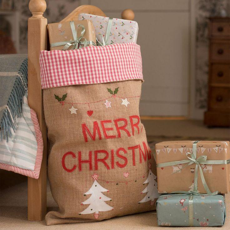 Christmas Sack -Trees-Susie Watson Design