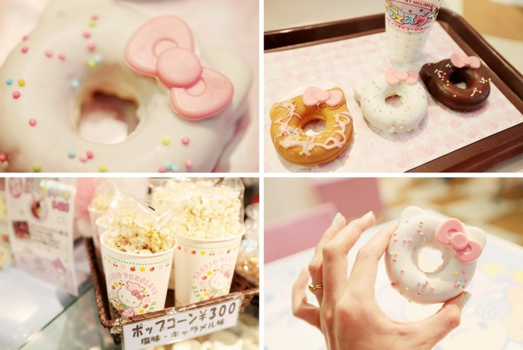 A Must Eat Donuts at Sanrio Puroland in Tokyo  Hello Kitty theme park for our honeymoon later <3