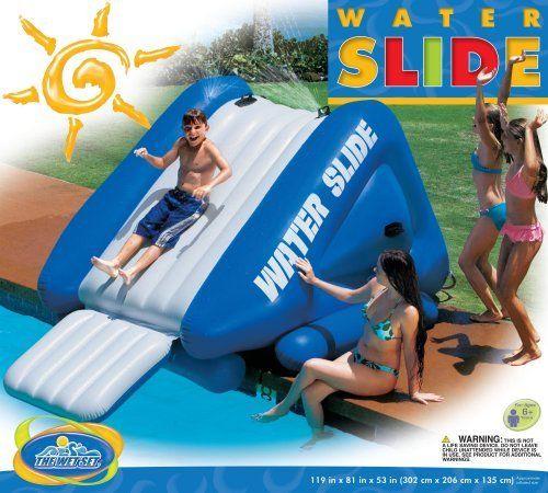 awesome inflatable pool slide including air pump bestinfltablewatertoyscom