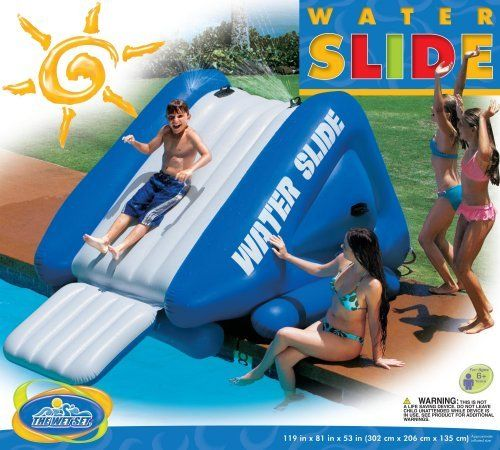 1000 images about inflatable pools and slides on for Achat toboggan gonflable piscine