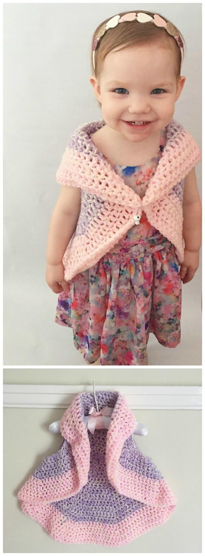 Crochet Bella Circle Waistcoat – Free Crochet Pattern for Baby - Crochet Circular Vest / Jacket 10 FREE Crochet Patterns - DIY & Crafts