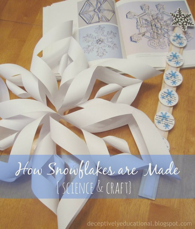How Snowflakes are Made (craft & science) - Relentlessly Fun, Deceptively Educational