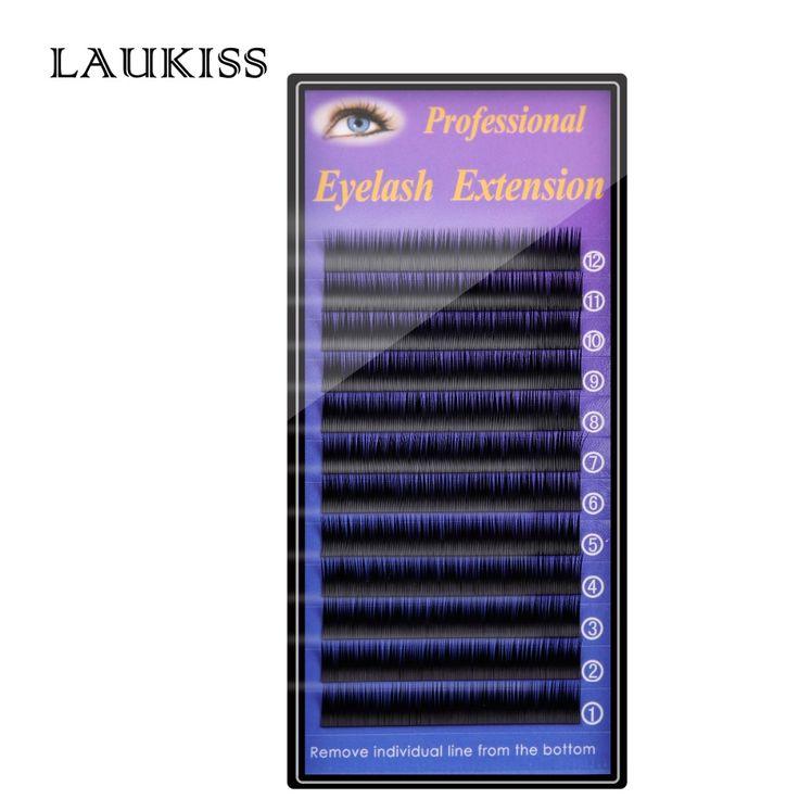 Flat False Eyelashes Ellipse Eye Lashes Cilia Kit For Professionals Flat Eyelash Extension Permanent Silk Eyelashes LAUKISS cils