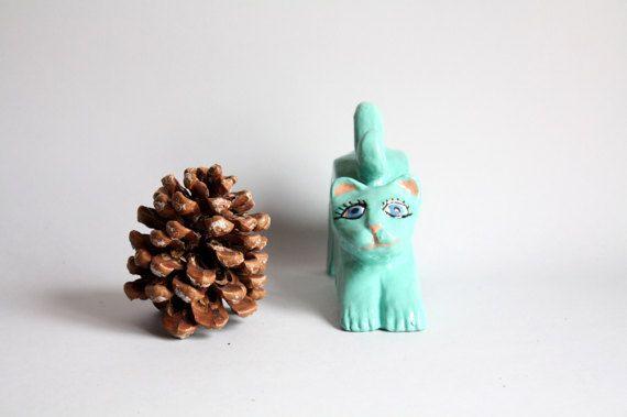 Himmlische Keramik Katze die mit blauen Augen Heimtextilien