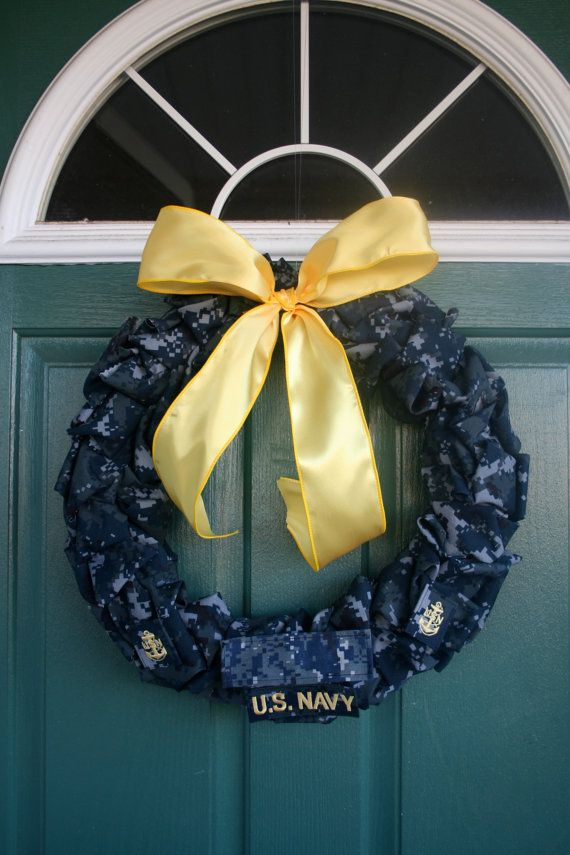 Navy Chief Wreath by SandyKissesCloset on Etsy, $50.00