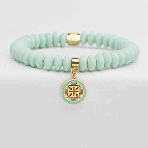Rustic Cuff Alex Bracelet ~ Mint available at J. Lilly's Boutique or jlillysboutique.com