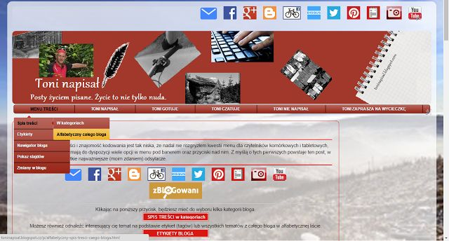 """Jak już ktoś napisał """"zmiany są zawsze dobre"""" więc możecie sprawdzić cóż takiego wymyśliłem tym razem ;) http://toninapisal.blogspot.com/2014/10/zmiany-w-blogu.html"""