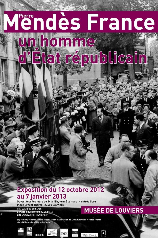 Vernissage de l'expo Pierre Mendès France ce soir à 18h30 au musée de #Louviers